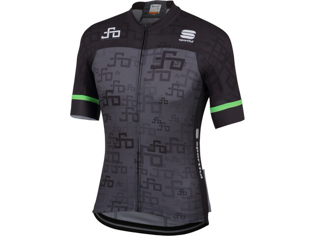 Sportful Sagan Logo Bodyfit Team Jersey Men grey-green